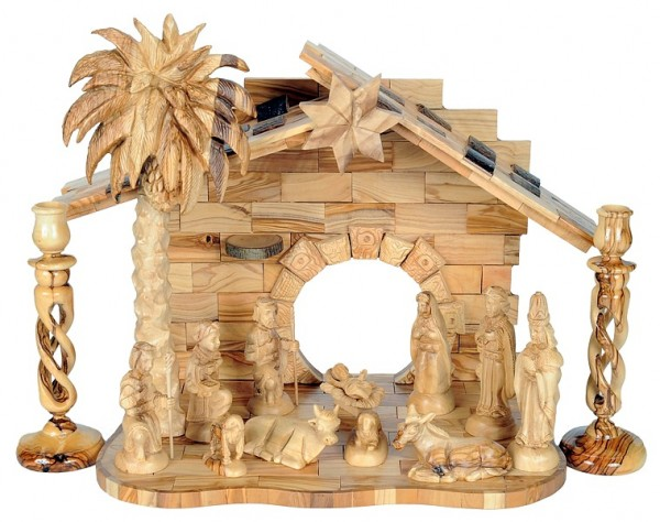 Adorable Indoor Olive Wood Nativity Set - 2 Nativity Scenes @ $525 Each