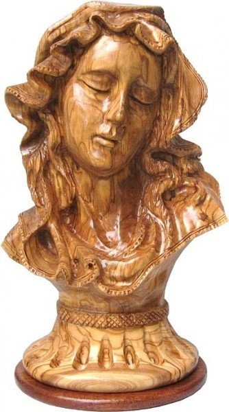 Beautiful Olive Wood Bust of the Blessed Mother - 3 Statues @ $349.00 Each