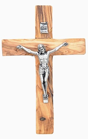 "Wholesale 4.5"" Olive Wood Crucifixes - 10,000 @ $3.25 Each"