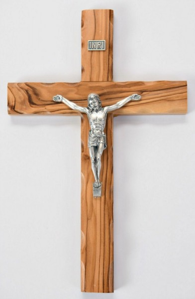 "Wholesale 9.5"" Olive Wood Wall Crucifixes - 700 @ $14.90 Each"