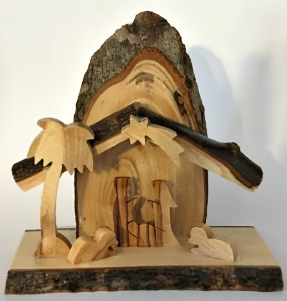 Wholesale Small Olive Wood Nativity Scenes - 80 @ $7.85 Each