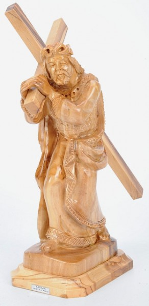Carved Wooden Statue of Jesus Christ Carrying the Cross - 10 Statues @ $139.00 Each