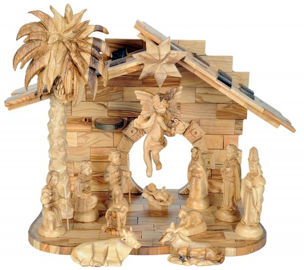 Exquisite Holy Land Indoor Nativity Scene - Brown, 1 Nativity