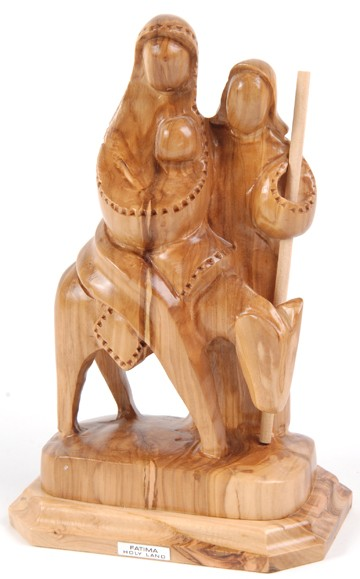Holy Family Flight into Egypt Statue (Modern) - Brown, 1 Statue