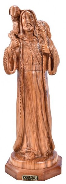 Large Good Shepherd Statue - Brown, 1 Statue