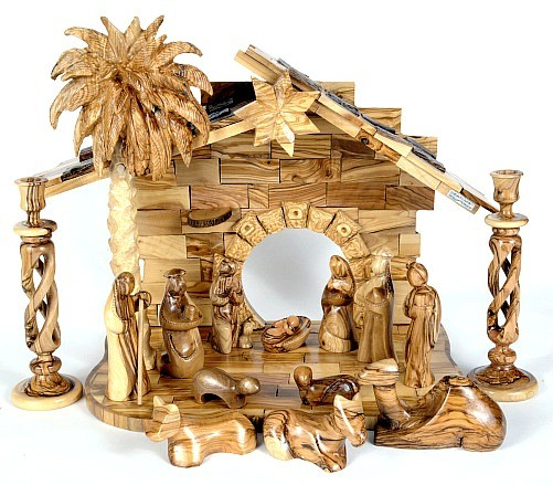 Large Indoor Contemporary Modern Nativity Set - Brown, 1 Nativity