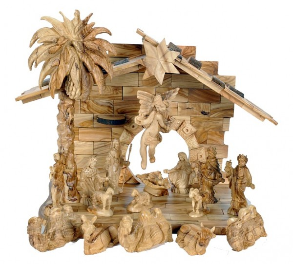 Large Musical Indoor Holy Land Nativity Scene - Brown, 1 Nativity