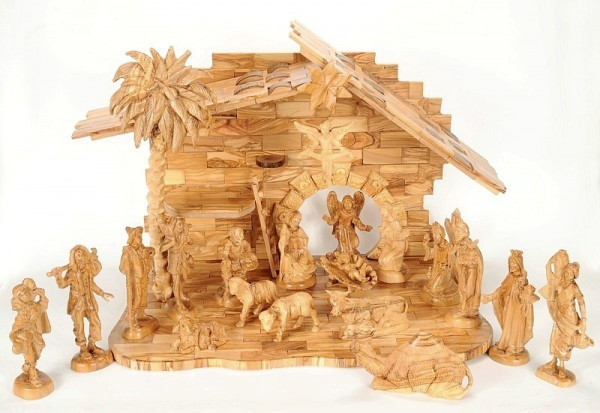 Large Unique Indoor Nativity Scene - Brown, 1 Nativity