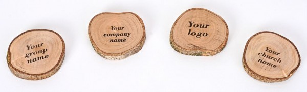 Wholesale Personalized Engraved Natural Olive Wood Refrigerator Magnets - 160 Magnets @ $3.80 Each