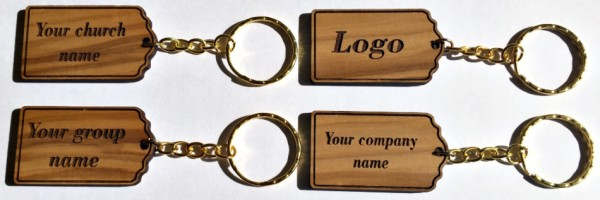 Wholesale Personalized Engraved Olive Wood Key Chains - 600 @ $2.70 Each