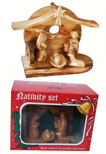Small Hand Carved Contemporary Nativity Scenes in Bulk - 1000 Nativity Scenes @ $32 Ea