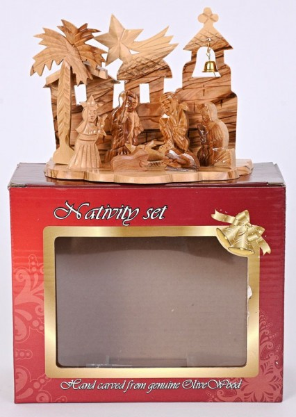 Wholesale Small Olive Wood Nativity Scenes - 1,300 Nativities @ $19.50 Each