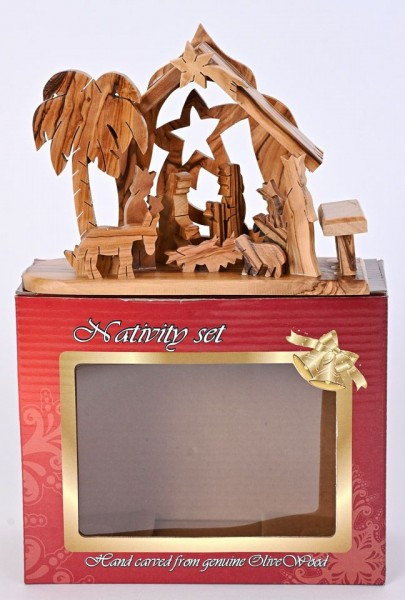 Wholesale Small Olive Wood Nativity Sets - 160 Nativities @ $21.40 Each