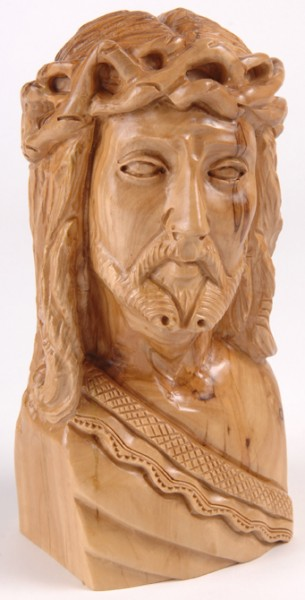 Sympathy Gift Statue of Jesus Wearing the Crown of Thorns - Brown, 1 Statue