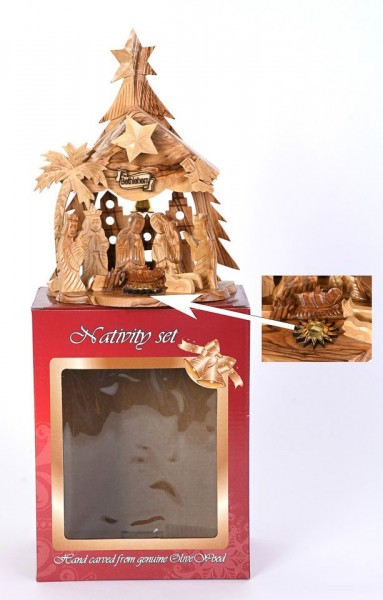 Ultimate Small Musical Nativity Set - Brown, 1 Nativity