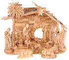 15 Piece Very Large Olive Wood Nativity Set