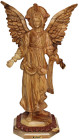 Angel Gabriel Olive Wood Statue 14 Inches