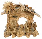 17 Piece Masterpiece Olive Wood Nativity Set