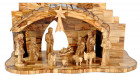 Olive Wood 13 Piece Nativity Set with Stable