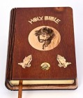 Olive Wood Bible with Holy Land Stones