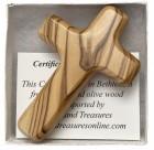 Olive Wood Comfort Cross w. Gift Box