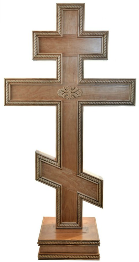 Large 4 Foot Russian Orthodox Standing Cross Holy Land Treasures