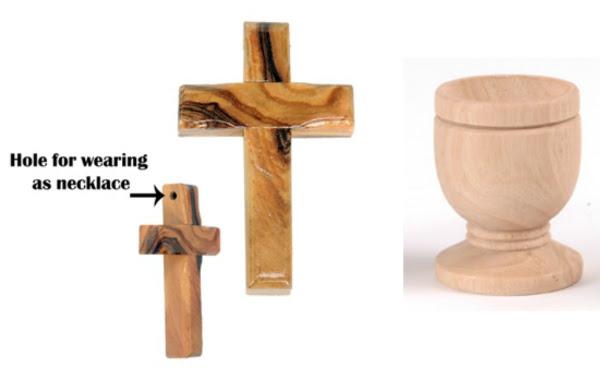 Medium Communion Cups and Small Crosses Combo (Bulk Discount